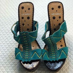 Not Rated Teal wedge Shoes